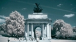 unseen light - wellington arch london infrared
